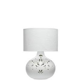Tesco Ceramic Cutout Table Lamp, White Lustre Reviews
