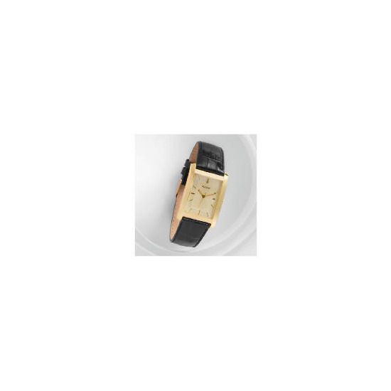Accurist mens  Black strap date watch