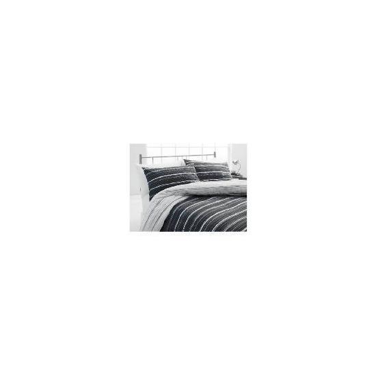Tesco Sketch Double Duvet Set, Black & White