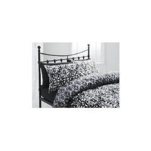 Photo of Tesco Damask Single Duvet Set, Black Bed Linen