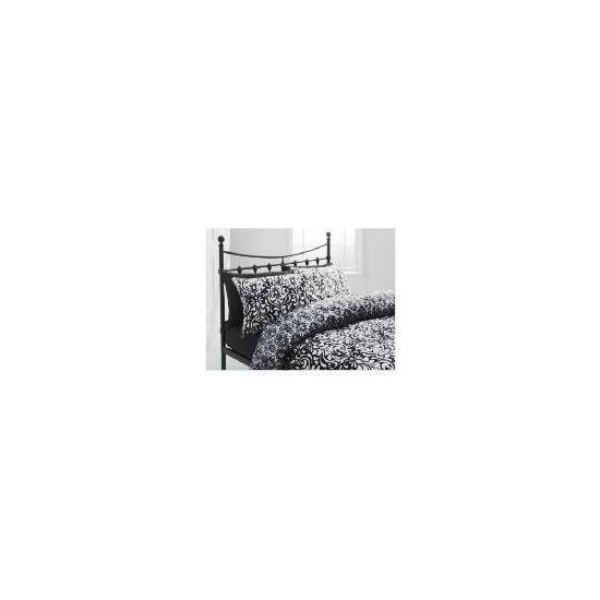 Tesco Damask Single Duvet Set, Black
