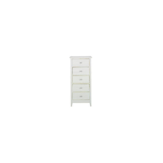 Fairhaven 5 drawer Tall chest, White