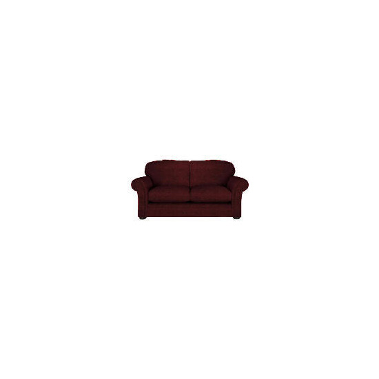 Finest Chichester Made to Order Large Velvet Sofa, Claret