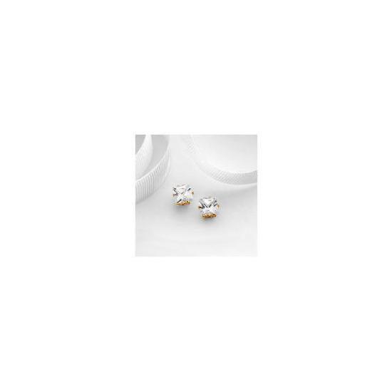 9ct Gold 6mm Cubic Zirconia  Studs