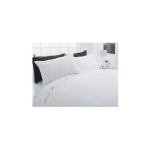 Photo of Tesco Scribble Embroidereddouble Duvet Set, White Bed Linen