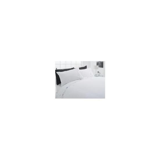 Tesco Scribble Embroidereddouble Duvet Set, White