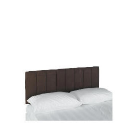 Haddon Faux Suede Double Headboard, Cocoa Reviews