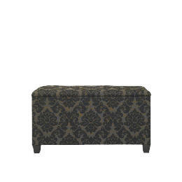 Chatsworth Damask Ottoman, Black Reviews