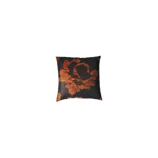 Tesco Rose Jaquard Cushion , Cinnamon