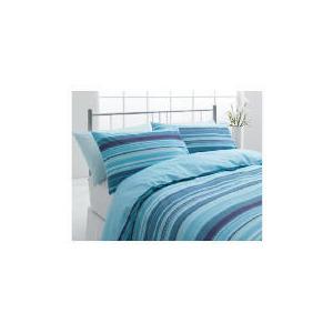 Photo of Tesco Stripe Double Duvet Set, Teal Bed Linen