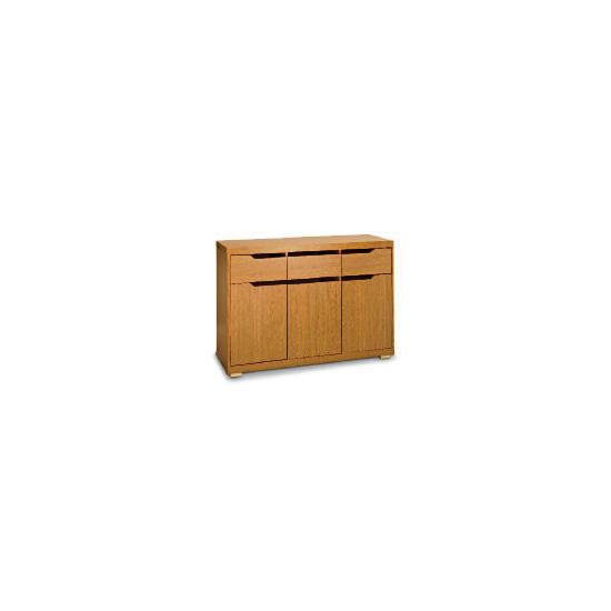 Seattle 3 door 3 drawer Sideboard, Oak effect