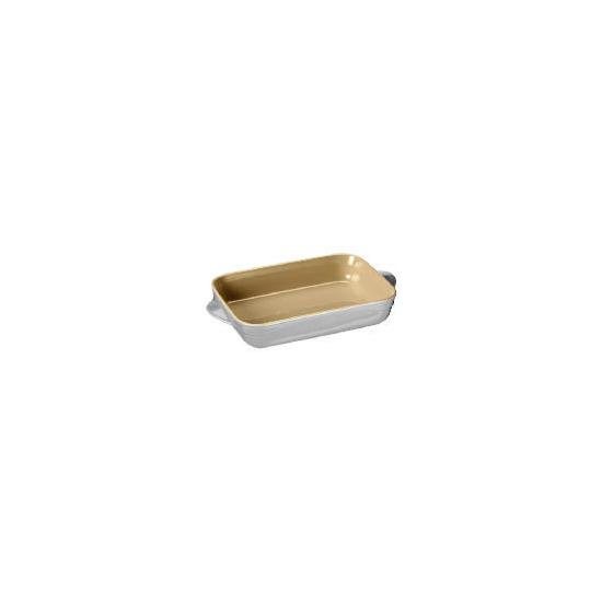 Le Creuset Curve stoneware 25cm rectangular baking dish colour Country Cream