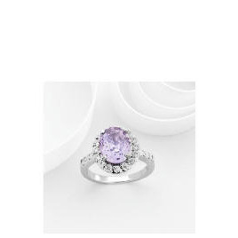 Adrian Buckley Lavender and White Cubic Zirconia Ring, Large Reviews