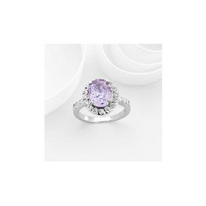Photo of Adrian Buckley Lavender and White Cubic Zirconia Ring, Large Jewellery Woman