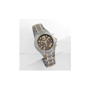 Photo of Accurist Mens 2 Tone Chrono Chocolate Dial TITANIUM Bracelet Watches Man