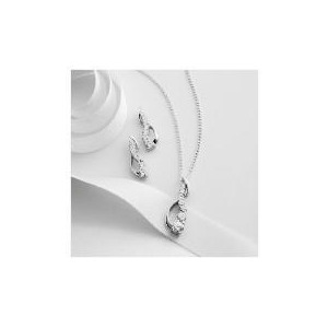 Photo of Sterling Silver Cubic Zirconia Pendant and Earring Set Jewellery Woman
