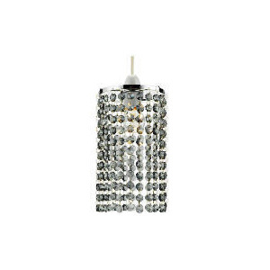 Photo of Tesco Glass Beaded Cylinder Pendant Smokey Home Miscellaneou