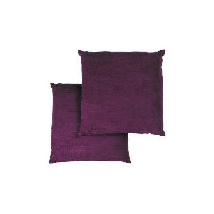 Photo of Tesco Large Chenille Cushion , Plum Cushions and Throw