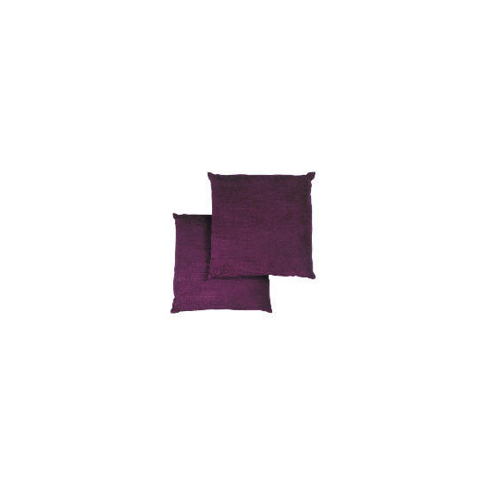 Tesco Large Chenille Cushion , Plum