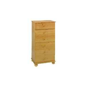 Photo of Vermont 6 Drawer Narrow Chest, Antique Pine Furniture
