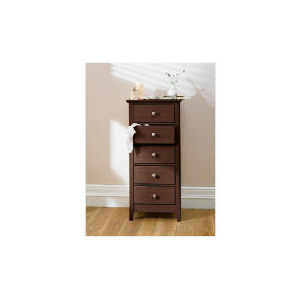 Photo of Fairhaven 5 Drawer Tall Chest, Chocolate Furniture