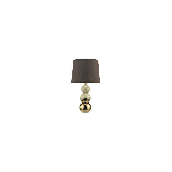 Tesco Reactive Glaze Three Ball Ceramic Base Table Lamp