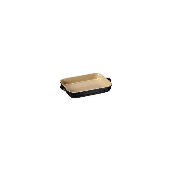Le Creuset Curve stoneware 30cm rectangular baking dish - Jet Black