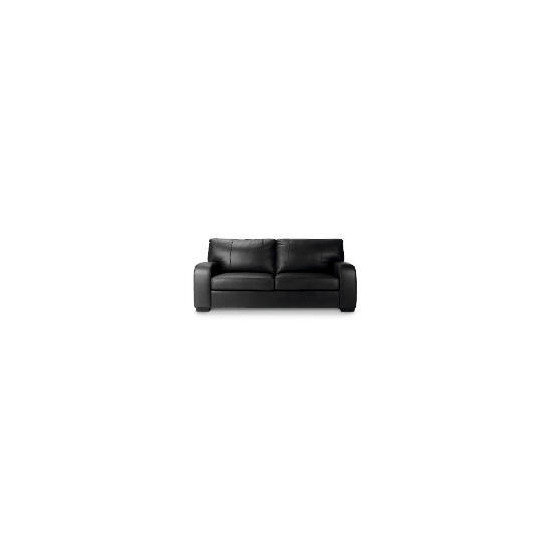 Memphis Large Leather Sofa, Black