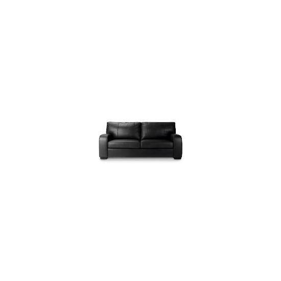 Memphis Large Leather Sofa, Black