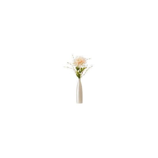 Pink Chrysanth In Pearlised Bottle Vase