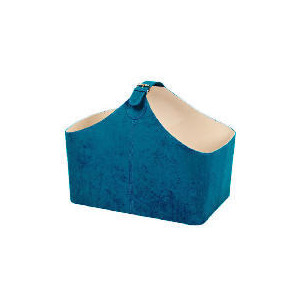 Photo of Teal Faux Suede Magazine Rack Bin