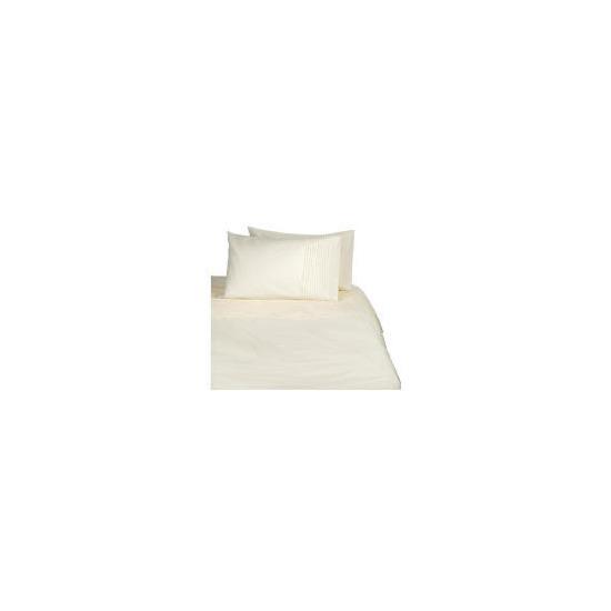 Tesco Pintuck Double Duvet Set, Cream
