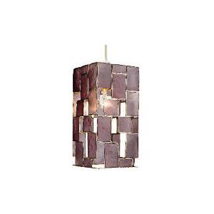 Photo of Tesco Capiz Square Shade, Plum Lighting