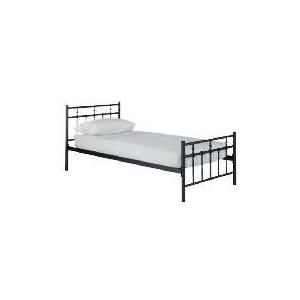 Photo of Caen Single Bed, Black Bedding