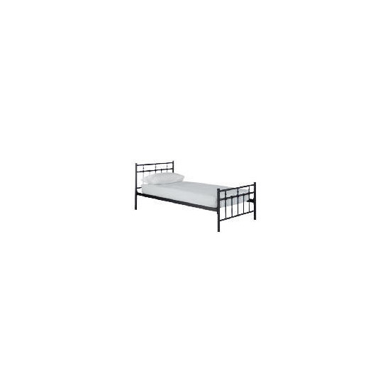Caen Single Bed, Black