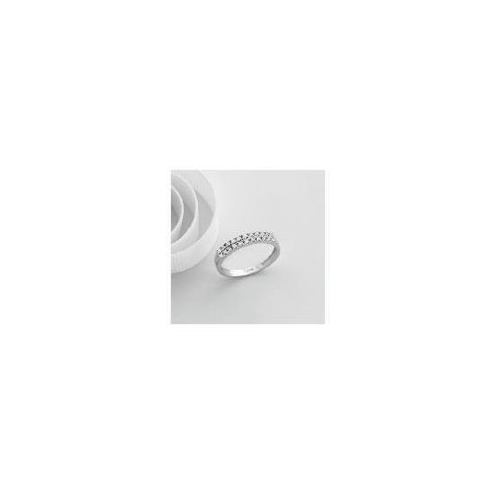 9ct White Gold 1/4 Carat Diamond Ring, N