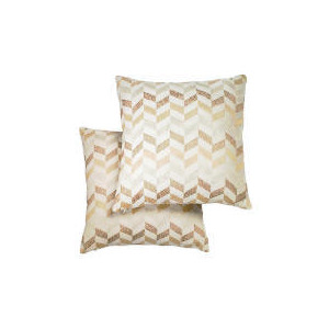 Photo of Tesco Metallic Geometric Cushion , Natural Cushions and Throw