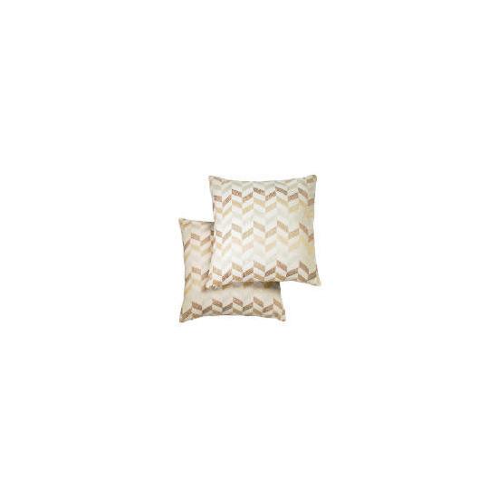 Tesco Metallic Geometric Cushion , Natural