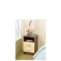 Eclipse 2 drawer Bedside Table - Cream Reviews