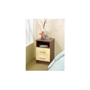 Photo of Eclipse 2 Drawer Bedside Table - Cream Furniture
