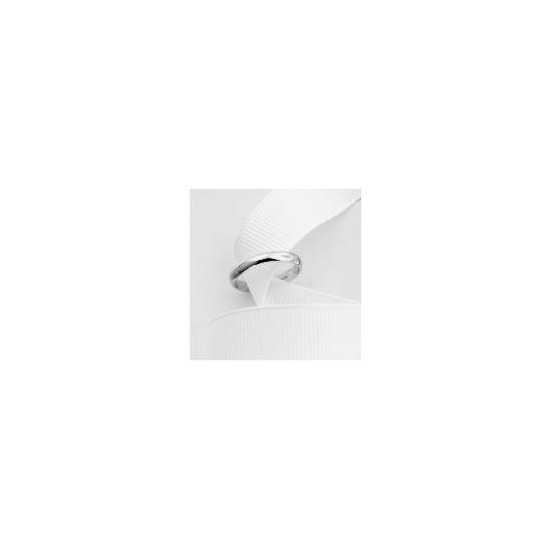 9ct White Gold 3mm Wedding Ring P