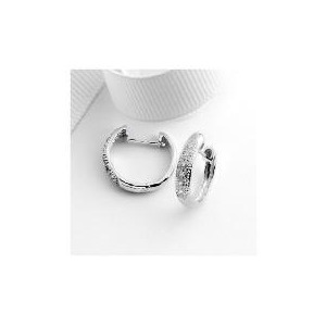 Photo of 9CT White Gold Diamond Hoops Jewellery Woman