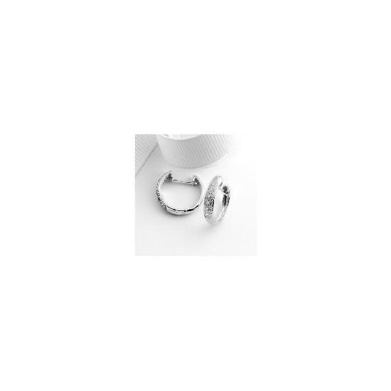 9ct white gold diamond hoops