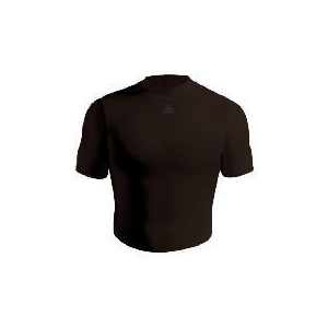 Photo of Short Sleeve Bodyshirt Crew Neck (BLACK Adult Large) Sports and Health Equipment