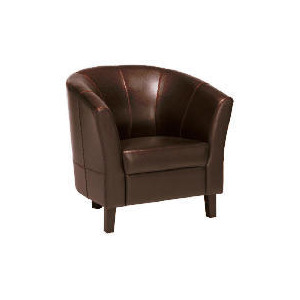 Photo of Greenwich Leather Armchair, Chocolate Furniture