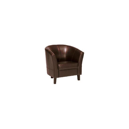 Greenwich Leather Armchair, Chocolate