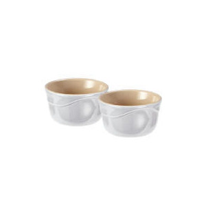 Photo of Le Creuset Curve Stoneware Ramekins - Pack Of 2 Colour Country Cream Kitchen Accessory