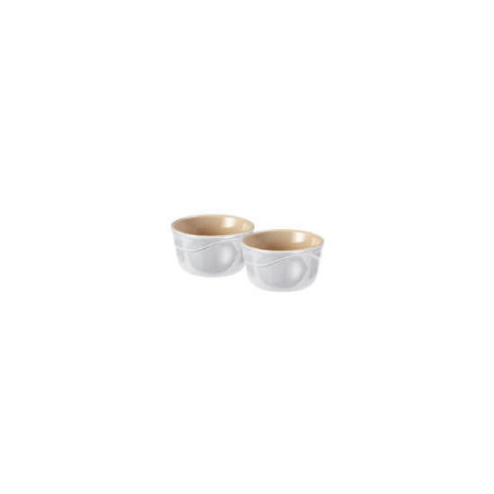 Le Creuset Curve stoneware ramekins - pack of 2 colour Country Cream