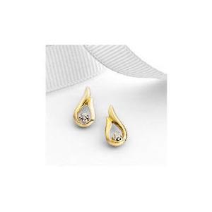 Photo of 9CT Gold Diamond Earrings Jewellery Woman