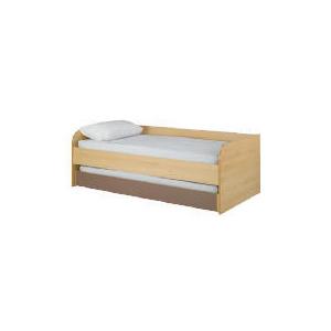 Photo of Shake Single Trundle Bed, Chocolate Bedding